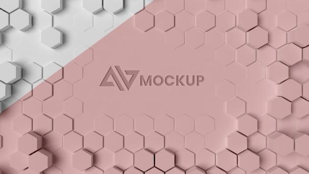 Fundo 3d hexagonal