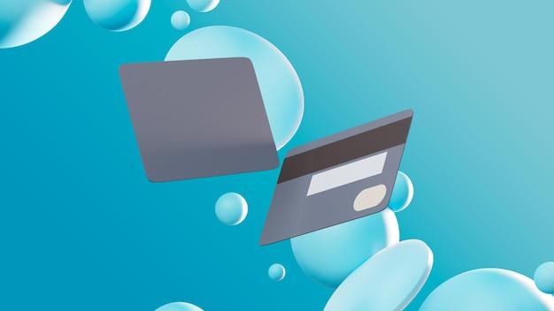Fundo abstrato com cartões de crédito