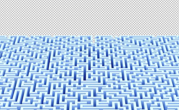 Fundo abstrato do labirinto com ilustração 3d do copyspace