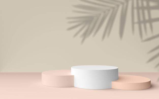 Fundo abstrato, simulação de cena para exibição de produtos