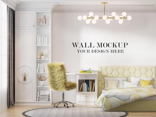 Fundo brilhante da parede do quarto adolescente para suas texturas