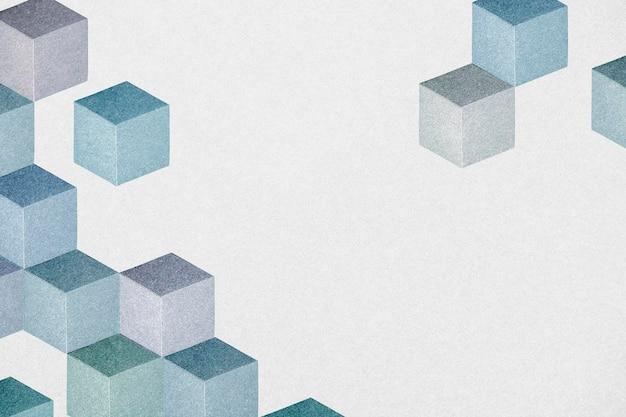 Fundo com padrão cúbico azul