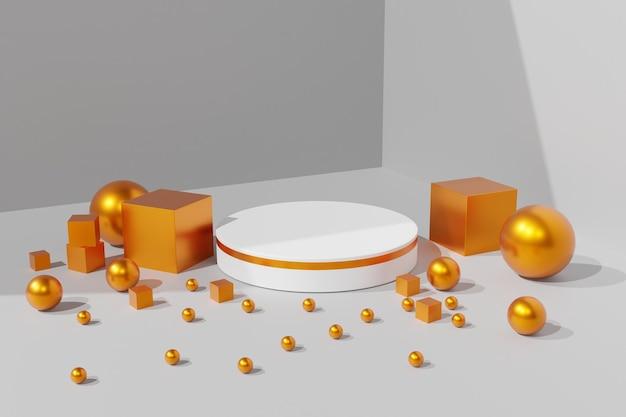 Fundo da cena do pódio 3d do suporte do produto