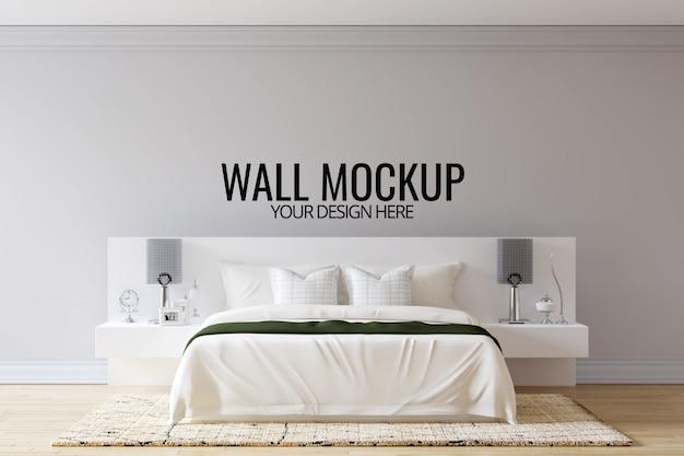 Fundo da parede do quarto interior mock up