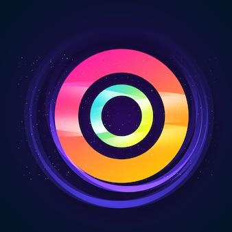 Fundo de círculo multicolorido