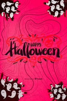 Fundo de conceito de halloween com fantasmas