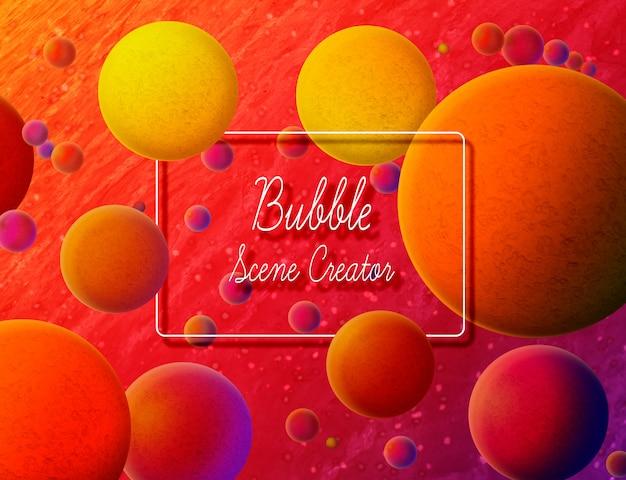 Fundo de criador de cena bolha colorida