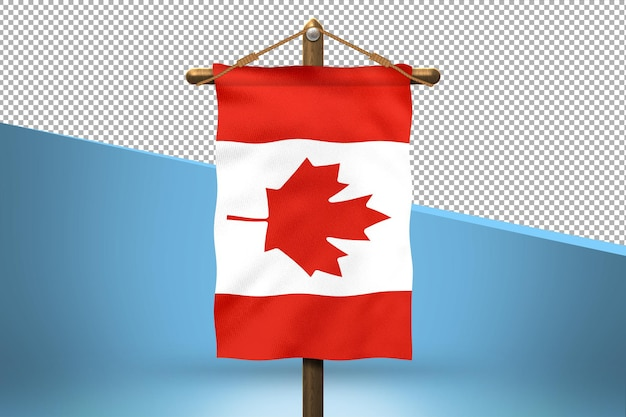 Fundo de desenho de bandeira canadense
