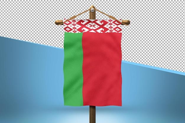Fundo de desenho de bandeira de belarus hang