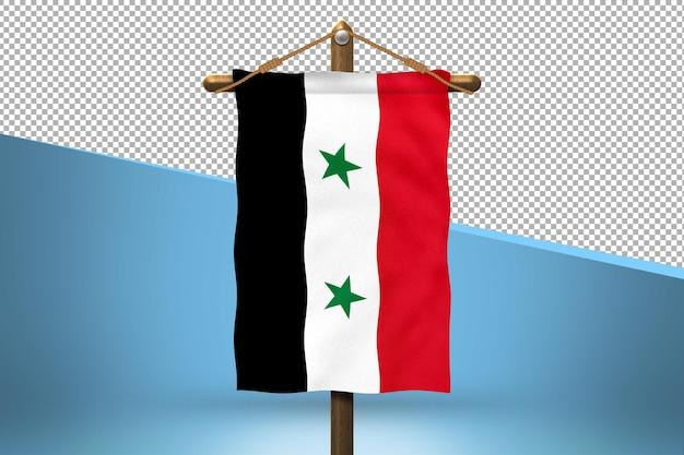 Fundo de desenho de bandeiras da síria