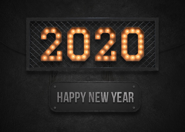 Fundo de feliz ano novo de 2020