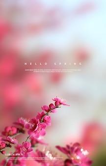 Fundo de flores lindas da primavera