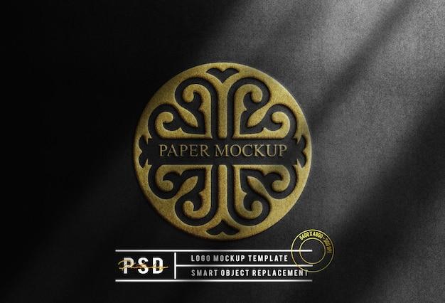 Fundo de maquete de logotipo de ouro de luxo