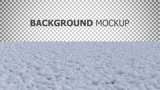 Fundo de maquete para jardim de pedras de cor branca