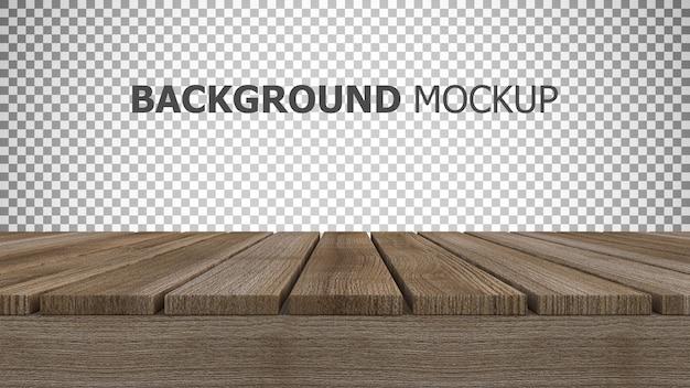 Fundo de maquete para renderização em 3d do painel de madeira