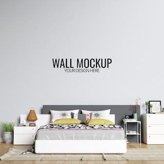 Fundo de mockup de parede quarto interior