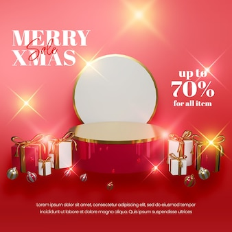 Fundo de natal elegante em estilo realista com decoração dourada