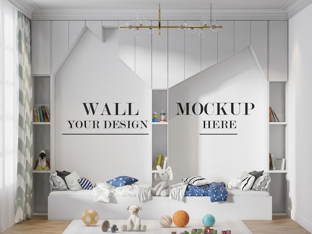 Fundo de parede de móveis em forma de casa