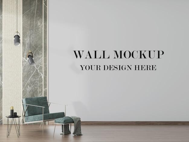 Fundo de parede interior moderno em renderização 3d