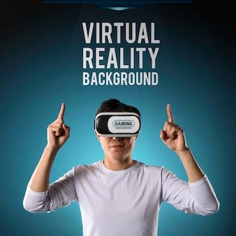 Fundo de realidade virtual