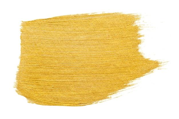 Fundo de traçado de pincel de ouro