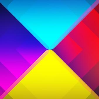 Fundo de triângulos multicoloridos