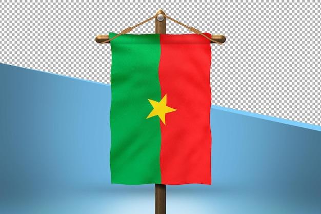 Fundo do desenho da bandeira de burkina faso hang