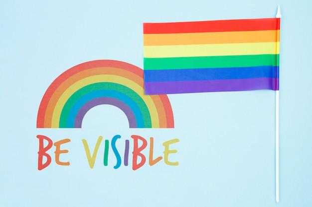 Fundo do orgulho gay com a bandeira do arco-íris