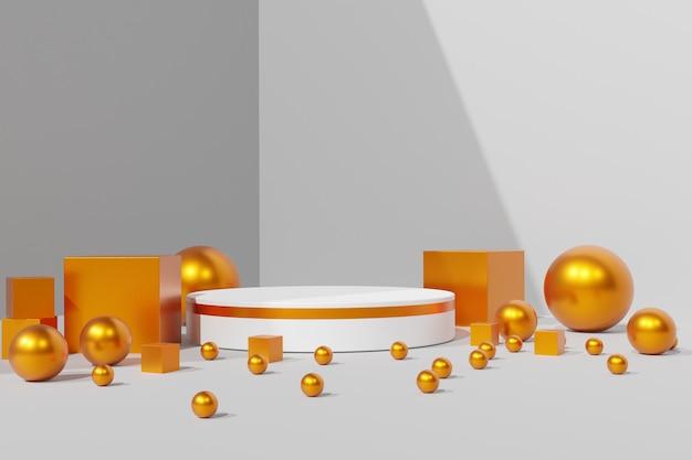Fundo do palco do pódio 3d do suporte do produto