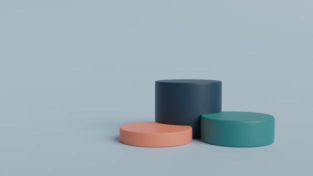Fundo geométrico da cena da parede mínima do pódio renderização em 3d