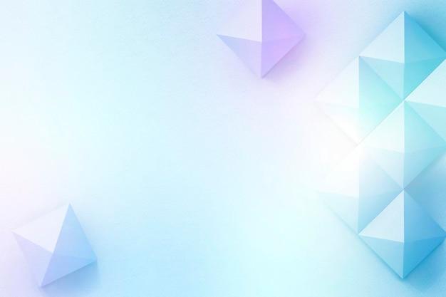Fundo geométrico de design de papel artesanal