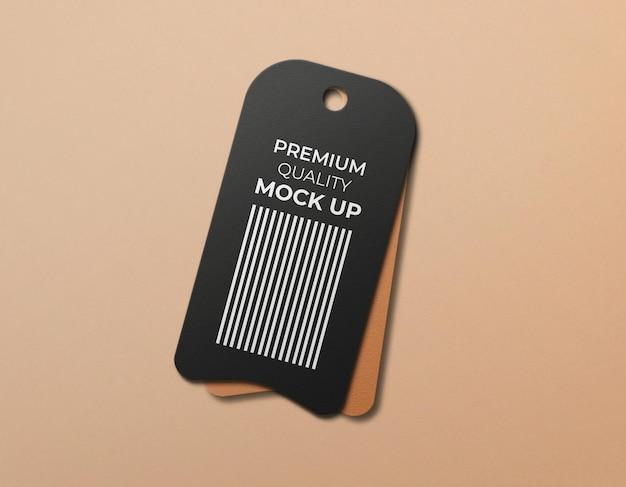 Fundo limpo de maquete de tag de um único produto