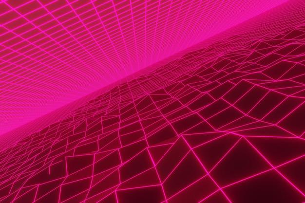 Fundo retro abstrato com luz de néon