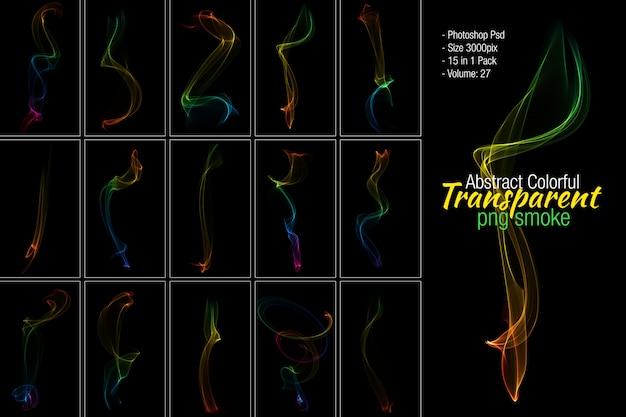 Fundo transparente de fumaça colorida