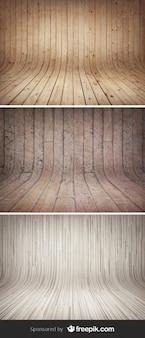 Fundos de madeira curvos