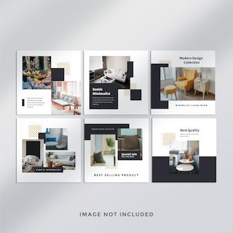 Furniture do instagram post banner Psd Premium