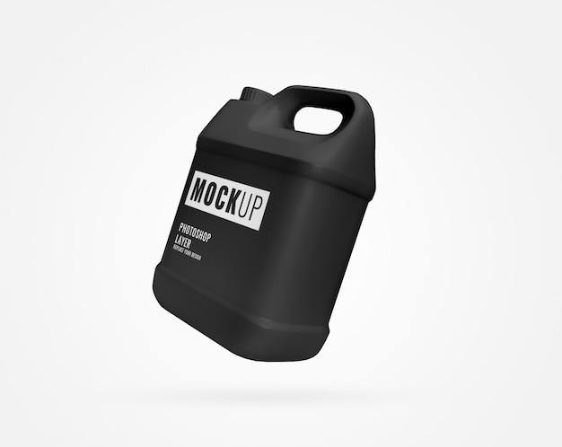 Galão de garrafa preta grande de líquido