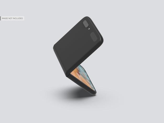 Galaxy flip mobile mockup