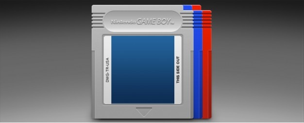 Gameboy cardridge cinza nintendo