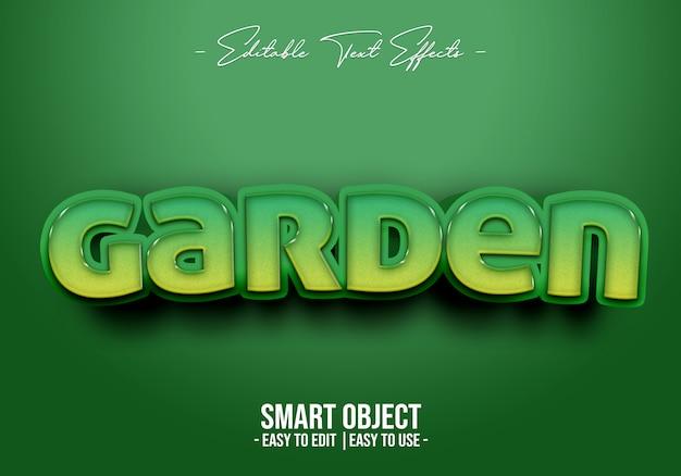 Garden-text-style-effect