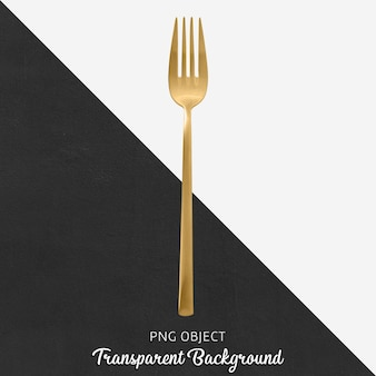 Garfo de jantar de ouro transparente