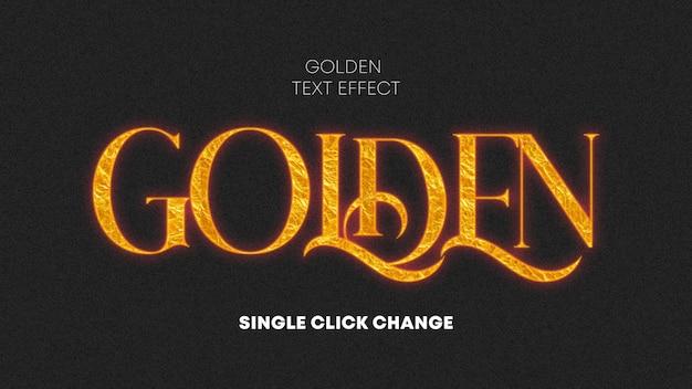 Gerador de efeito de texto de brilho dourado