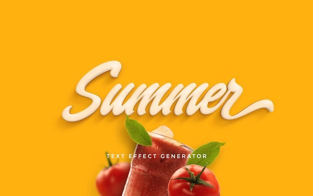 Gerador de efeito de texto de verão