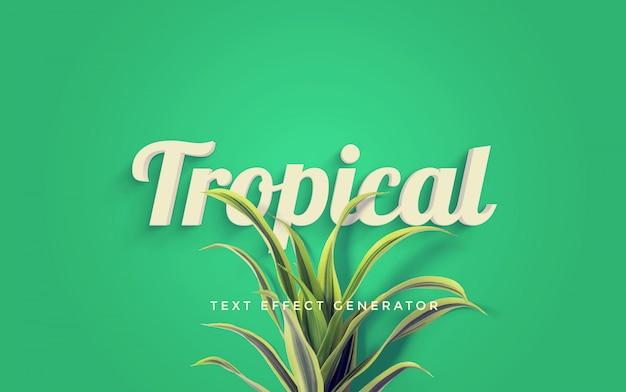 Gerador de efeito de texto tropical