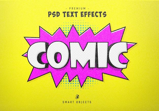 Gerador de efeitos de texto em quadrinhos