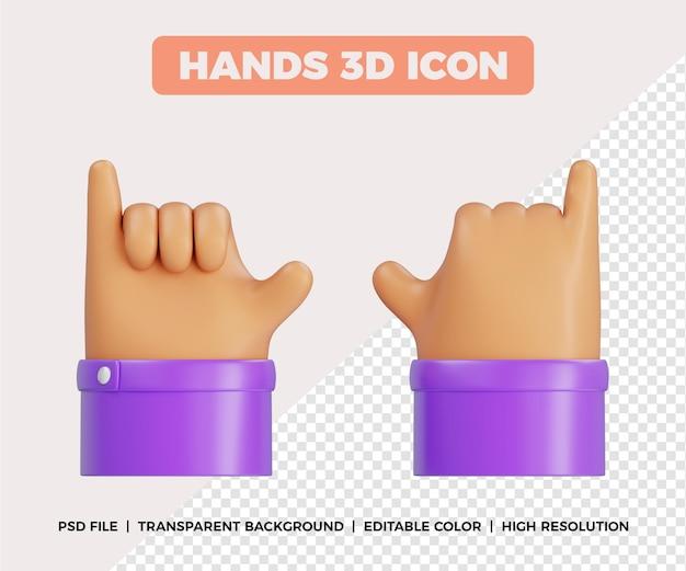 Gesto de chamada de mãos 3d