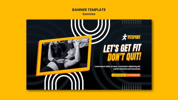 Get fit banner template