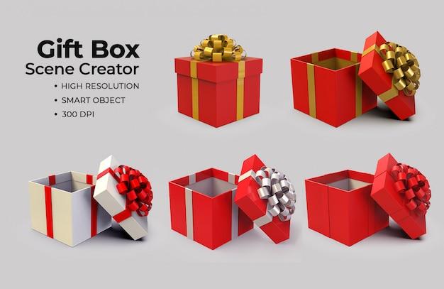 Gift box scene creator
