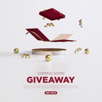 Giveaway 3d render para social meidia