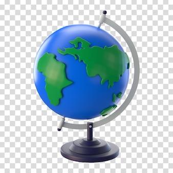 Globo mundial de renderização 3d
